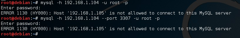 MySQL disabled